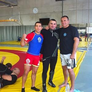 METO KODAKOV con D. Francisco Alcalde y el entrenador de la selección Española de Grappling
