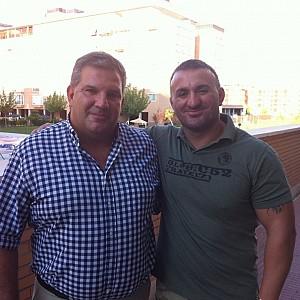 METO KODAKOV junto al Presidente de la Federación Madrileña de Lucha, D. Angel Luís Giménez Bravo