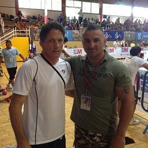 METO KODAKOV junto con Terry Steiner, seleccionador equipo nacional USA