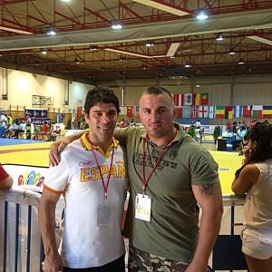METO KODAKOV junto al entrenador del selección Española de lucha olímpica D. Francisco Barcia