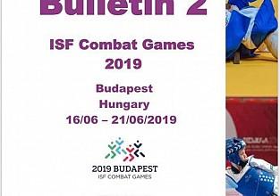 Juegos Mundiales de Combate  Budapest- Hungría 2019