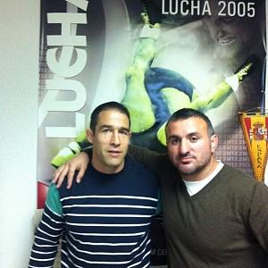 METO KODAKOV junto con el Director Técnico de la Federacion Espanola De Luchas Olimpicas - D. Francisco Javier Iglesias