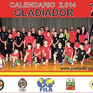 Calendario 2014 de la familia GLADIADOR en CSD